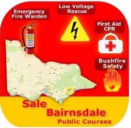 Sale-Bairnsdale Public Courses 1 & 2 April